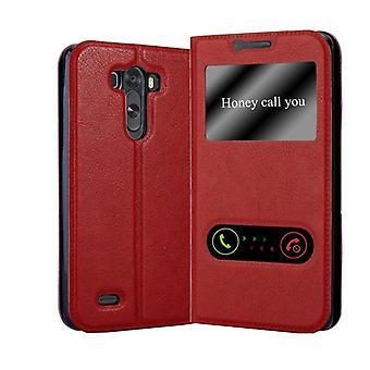 Cadorabo Case per LG G3 Case Cover - Custodia del telefono con chiusura magnetica, funzione Stand e 2 Viewing Windows - Case Cover Case Case Case Case Book Folding Style