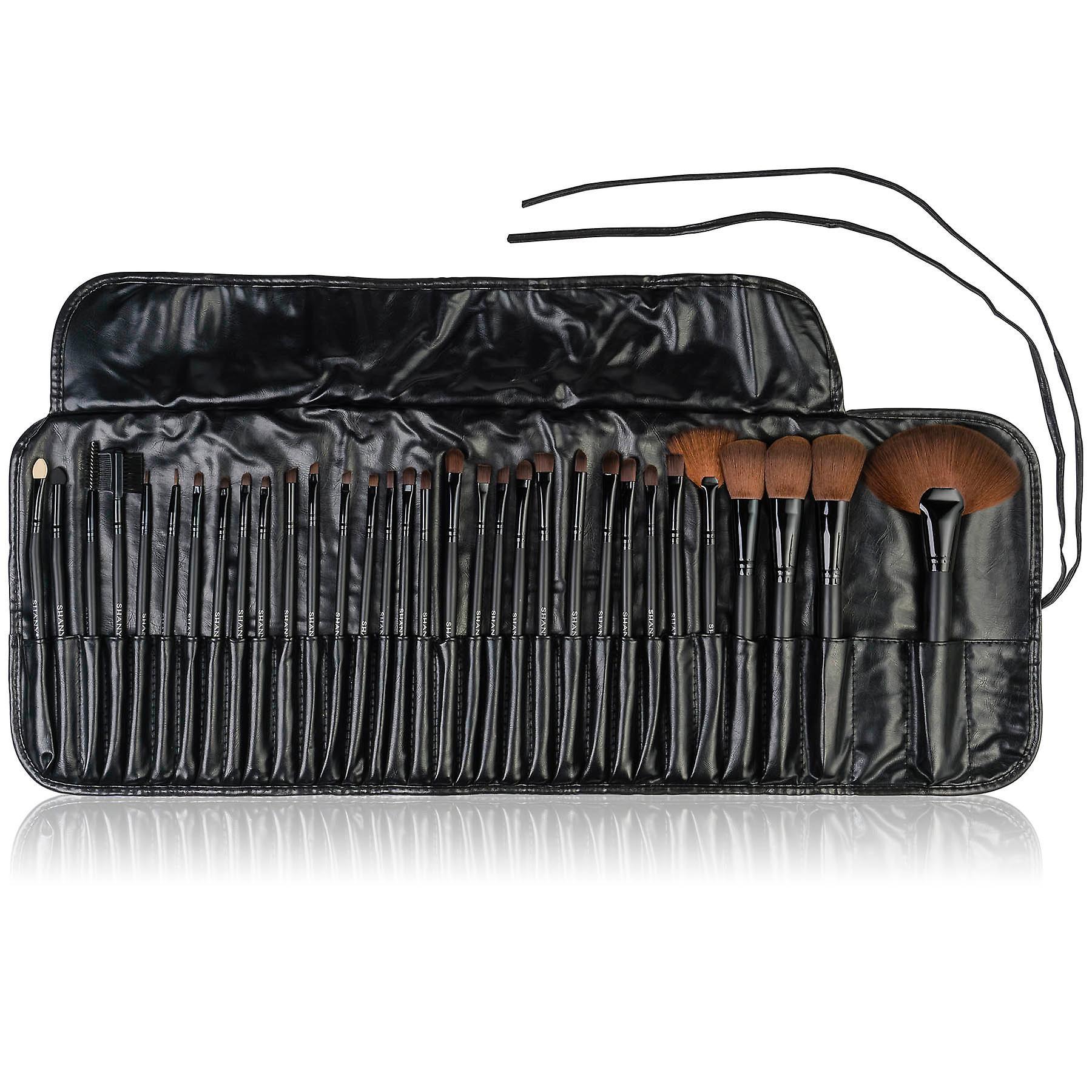 ShanY Professional Brush Set avec Faux Leather Pouch, 32 Comte, Bristles synthétiques