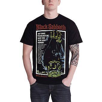 خطة 9 السبت الأسود الكلاسيكية خمر ملصق رسمي الرجال قميص أسود جديد تي