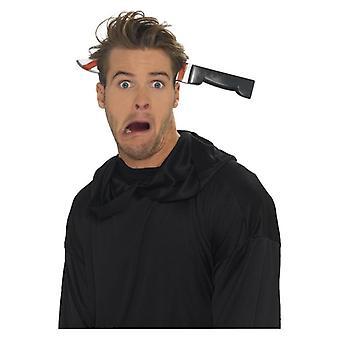 Nóż za pośrednictwem głową pałąk, akcesoria czarny Fancy Dress