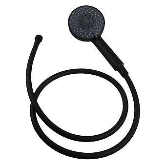 Nero Black 5 Function Round Hand Held Shower With Pvc Hose