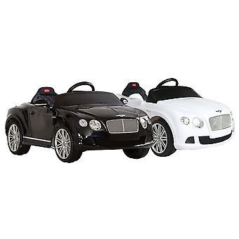 Bentley Gtc Licensed Children's Kids 6V Ride On Car With Remote Control Black & White