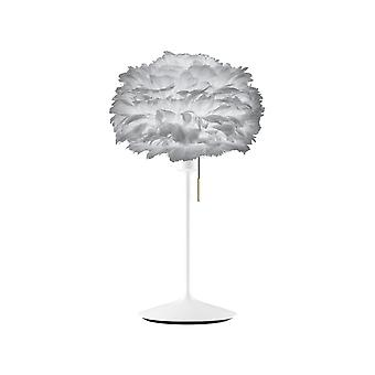 Umage Eos Table Lamp - Light Grey Feather Eos Mini/White Stand