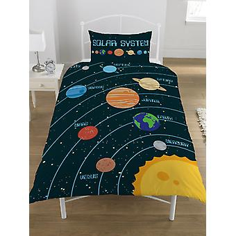 Solar System Single Duvet Cover and Pillowcase Set