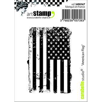 "Carabelle Studio ""amerikanska flaggan"" Cling stämpel, vit/Transparent, Mini"