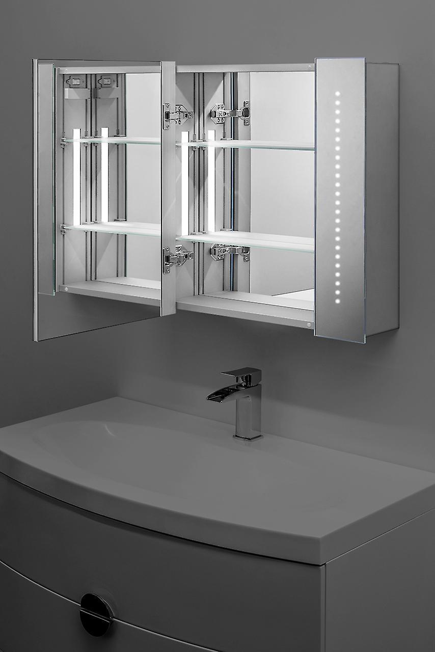 ASTOUND LED salle de bain miroir armoire avec capteur & rasoir k18