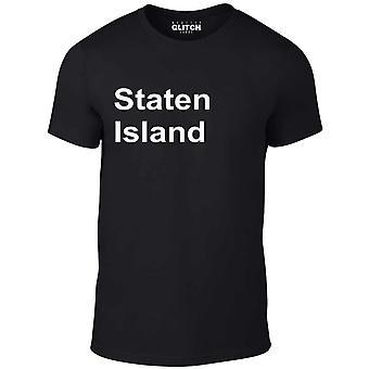 Men's staten island t-shirt.