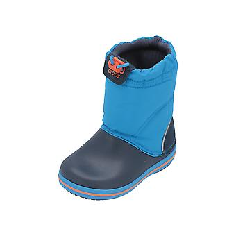 Crocs Crocband LodgePoint Boot K Kids Boys Boots Blue Lace Boots