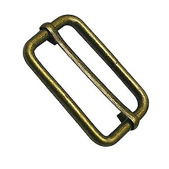 38mm Metal Bronze Triglide Slider Buckle