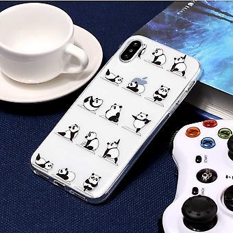 Dla iPhone XS, X Case, Pandas Yoga Class Transparent Wysokiej jakości osłona ochronna