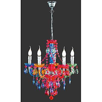Trio Lighting L '1'4Ster Young Living Multicolor Acryl Chandelier