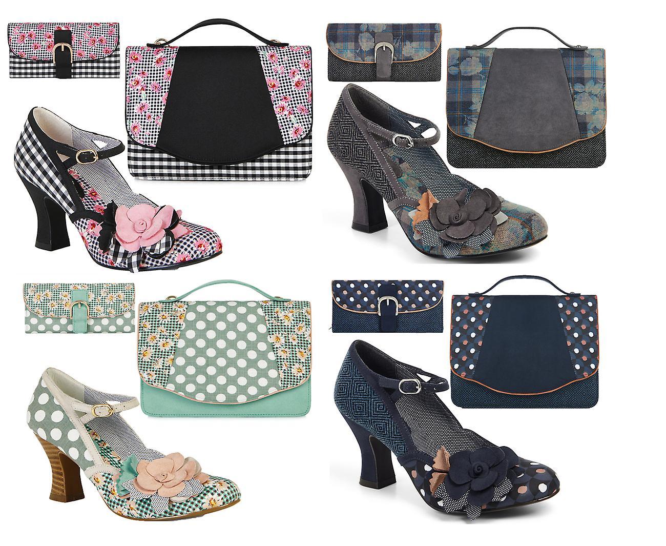 Ruby Shoo Women's  Dee Mid Heel Mary Jane Pumps & Matching Belfast Bag & Como Purse tTiwA