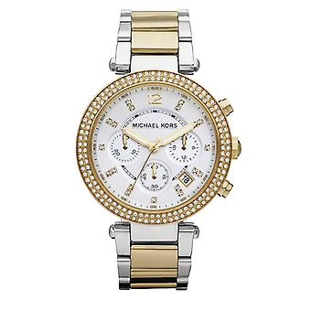 Michael Kors Ladies' Parker Watch - MK5626 - White/Gold