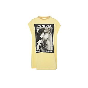 Acne Studios Al0132cgy Women's Yellow Cotton T-shirt