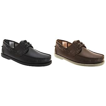 Dek Mens Leather Moccasin Boat Shoes