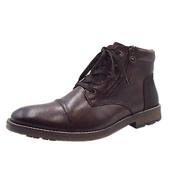 Rieker F5530-26 Anchor Riekertex Men's Fleece Lined Winter Boots In Brown