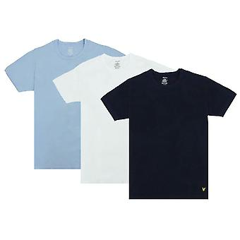 Lyle ja Scott Maxwell Lounge 3 Pack T-paidat - Chambray Blue/White/Peacoat Navy
