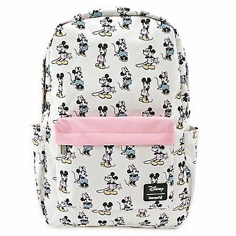 Pastel Mickey and Minnie Mini Backpack