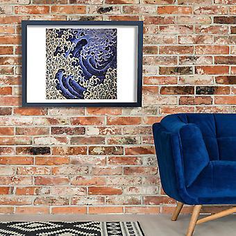 Katsushika Hokusai - maskuliininen aalto Juliste Tulosta Giclee