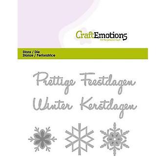 CraftEmotions Die Tekst - Prettige Feestdagen (NL) Karte 11x9cm