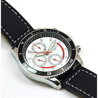 Henley Gents Chrono Effect White Dial Sports Watch