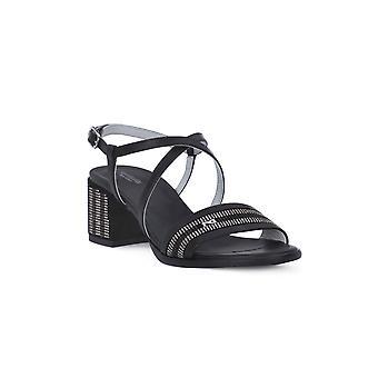 Nero giardini leon svarta sandaler