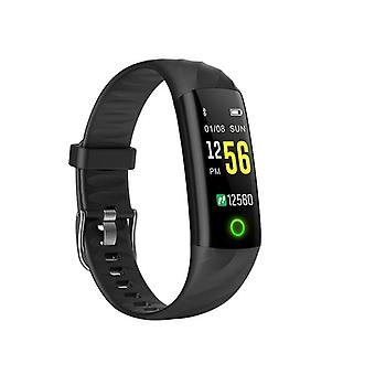 IP68 Waterproof activity wristband with heart rate monitor-black
