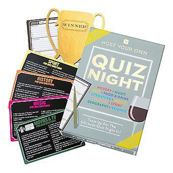 Host Your Own Quiz Night Familien-Heimspiel mit Freunden