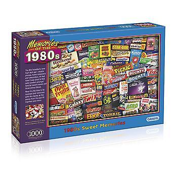 Gibsons 1980-talet Sweet Memories pussel (1000 bitar)