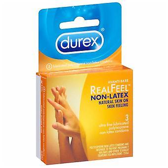 Durex avanti bare realfeel non-latex condoms, 3 ea