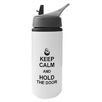 Hodor Keep Calm And Hold The Door Game Of Thrones Aluminium Water Bottle With Straw