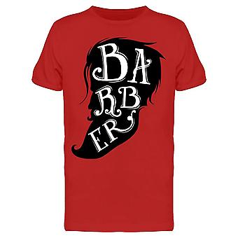Barber Silhouette Drawing Tee Men's -Image by Shutterstock