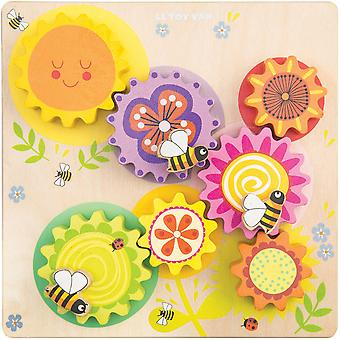 Le Toy Van Petilou Gears & Cogs 'Busy Bee Learning'