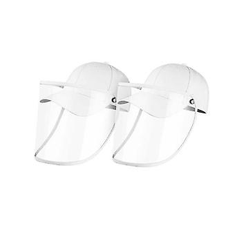 2X Outdoor Hut Anti Nebel Staub Speichel Cap Face Shield Cover Adult White