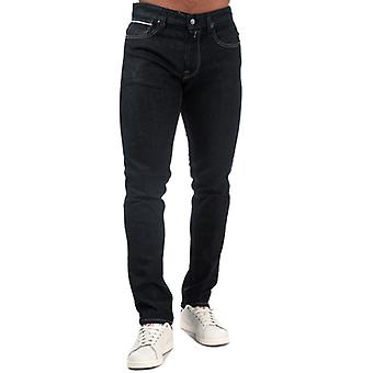 Men's Replay Grover Straight Fit Jeans in Blue