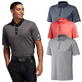 adidas Golf Mens 2020 Heat RDY. Base Umidade Wicking 3 Camisa polo botão