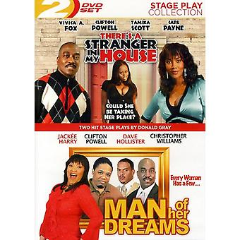 Man of Her Dreams/There's a Stranger in My House [DVD] USA import