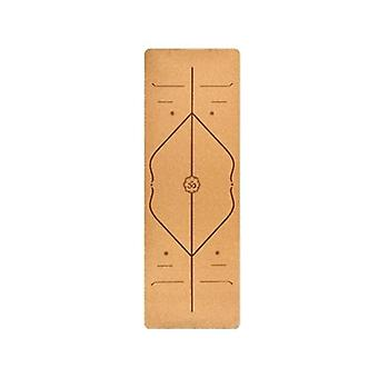 Yoga Mat Perfect Alignment Cork Natural Rubber