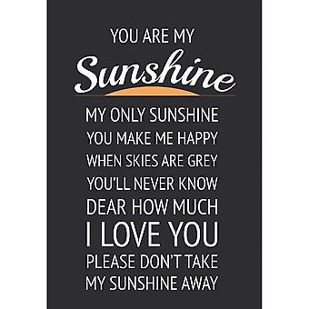You Are My Sunshine Metal Wall Sign