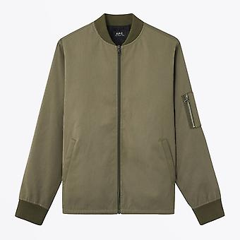 A.P.C.  - Greg - Cotton Twill Jacket - Khaki Green