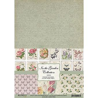 Reprint In the Garden Collection A4 Paper Pack