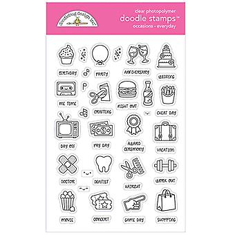 Doodlebug Clear Doodle Stamps - Occasions - Everyday