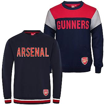 Arsenal FC officiella Fotboll Gift Boys Crest Sweatshirt Top