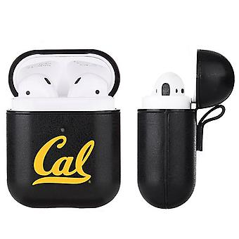 Cal Bears NCAA Fan Brander Zwart Lederen AirPod Case