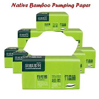 1 Pack Household Toilet Paper 4 Layers- Native Bamboo Pulp Natural Pumping Paper Napkin Paper Towels Home Bathroom