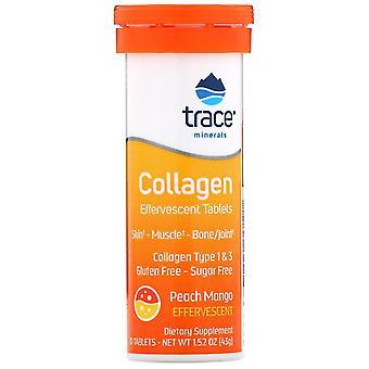 Trace Minerals Research, Collagen Effervescent Comprimés, Peach Mango, 10 Comprimés,