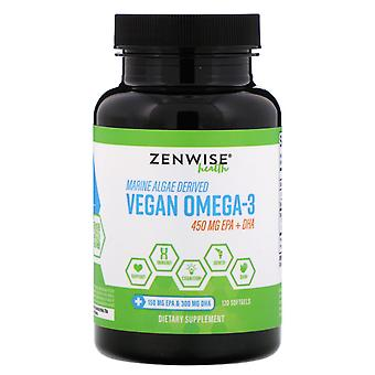Zenwise Health, Algues marines Dérivées Vegan Oméga-3, 120 Softgels