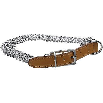 Ancol Heritage Chain Collar 3 Row Heavy - Tan - 50-59cm - (Size 7)