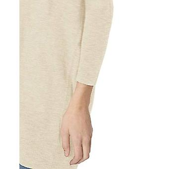 Marque - Daily Ritual Women's Lightweight Cocoon Sweater, Beige, Small