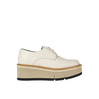 Paloma Barceló Ezgl052063 Women's White Leather Lace-up Shoes